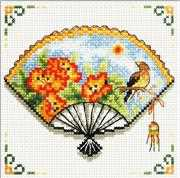 Nasturtium Fan - Needleart World No Count Cross Stitch Kit