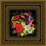 Zhostovo Painting Panel/Cushion - RIOLIS Cross Stitch Kit