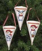 Snowman Fun Tree Pockets - Permin Cross Stitch Kit