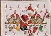 Permin Owls Advent Christmas Cross Stitch Kit