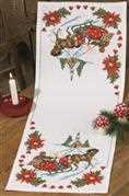 Permin Sleigh Ride Table Runner Christmas Cross Stitch Kit