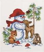 Forest Snowman - Permin Cross Stitch Kit