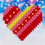 Needleart World Patchwork Heart Diamond Dotz Craft Kit