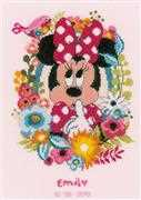 Minnie Shh! Birth Sampler - Vervaco Cross Stitch Kit