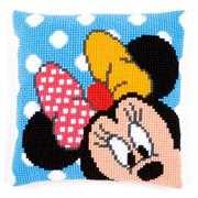Peek-a-Boo Minnie Cushion - Vervaco Cross Stitch Kit