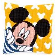Peek-a-Boo Mickey Cushion - Vervaco Cross Stitch Kit
