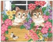 Whiskers at the Window - Janlynn Cross Stitch Kit