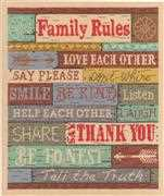 Janlynn Family Rules Cross Stitch Kit