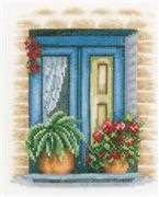 Lanarte Blue Window Cross Stitch Kit