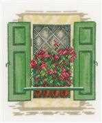 Lanarte Window with Shutters Cross Stitch Kit