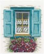 Lanarte Blue Shutters Cross Stitch Kit