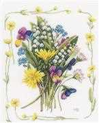 Lanarte Bouquet of Field Flowers Cross Stitch Kit