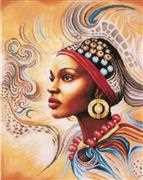 Lanarte Mother Africa Cross Stitch Kit