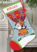 Santa's Balloon Ride - Dimensions Tapestry Kit