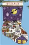 Christmas Eve Stocking - Design Works Crafts Cross Stitch Kit