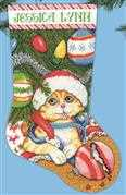 Design Works Crafts Kitten Stocking Cross Stitch Kit