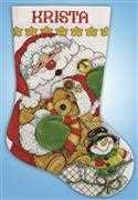 Santa Stocking - Design Works Crafts Cross Stitch Kit
