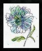 Design Works Crafts Blue Floral Cross Stitch Kit