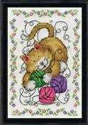 Cat and Yarn - Design Works Crafts Cross Stitch Kit