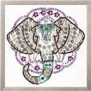 Design Works Crafts Zendazzle - Elephant Embroidery Kit