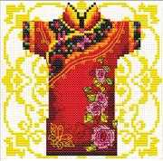 Samurai Rose - Needleart World No Count Cross Stitch Kit