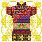 Samurai Mauve - Needleart World No Count Cross Stitch Kit