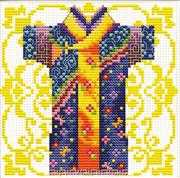 Samurai Blue - Needleart World No Count Cross Stitch Kit
