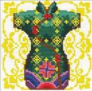 Geisha Green - Needleart World No Count Cross Stitch Kit
