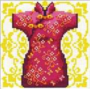 Geisha Red - Needleart World No Count Cross Stitch Kit
