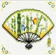 Bamboo Fan - Needleart World No Count Cross Stitch Kit