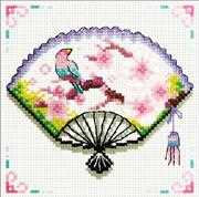 Cherry Blossom Fan - Needleart World No Count Cross Stitch Kit