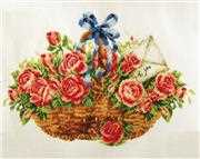Needleart World Basket of Roses No Count Cross Stitch Kit
