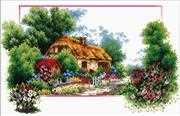 Needleart World English Cottage Lane No Count Cross Stitch Kit