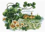 Needleart World Scenery Clover No Count Cross Stitch Kit