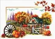 Needleart World Autumn Farm No Count Cross Stitch Kit