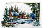 Needleart World Winter Snow Christmas No Count Cross Stitch Kit