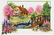Needleart World Spring Cottage No Count Cross Stitch Kit
