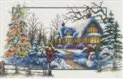Needleart World Winter Cottage Christmas No Count Cross Stitch Kit