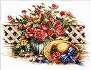 Roses & Sunhat - Needleart World No Count Cross Stitch Kit