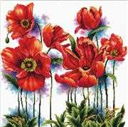 Needleart World Lovely Poppies No Count Cross Stitch Kit