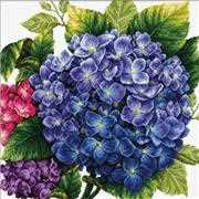 Hydrangea - Needleart World No Count Cross Stitch Kit