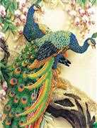 Needleart World Peacock Majesty No Count Cross Stitch Kit