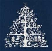 DMC Christmas Tree Blue Cross Stitch Kit