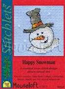 Happy Snowman - Mouseloft Cross Stitch Card Design