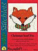 Christmas Scarf Fox - Mouseloft Cross Stitch Card Design