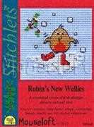 Robin's New Wellies - Mouseloft Cross Stitch Card Design