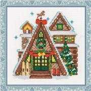 RIOLIS Winter Cabin Christmas Cross Stitch Kit