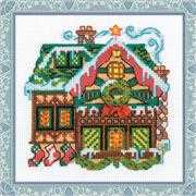 RIOLIS Cabin with a Bell Christmas Cross Stitch Kit