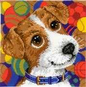 RIOLIS Puppy Cushion Cross Stitch Kit