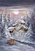 Winter Village - Grafitec Tapestry Canvas